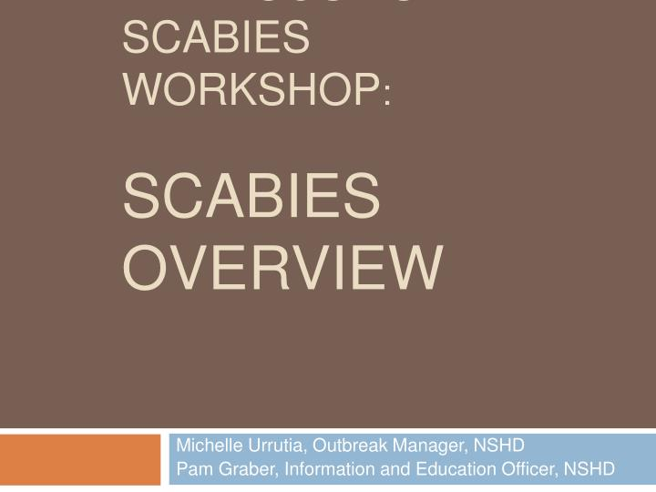 bed bugs vs scabies workshop scabies overview n.