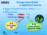 energy from waste a significant source