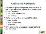 application workloads