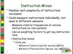instruction mixes