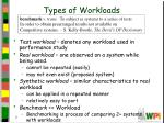 types of workloads