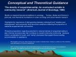 conceptual and theoretical guidance