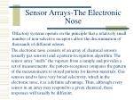 sensor arrays the electronic nose