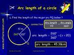 arc length of a circle4