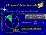 area of sector in a circle2
