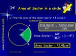 area of sector in a circle3