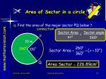 area of sector in a circle4