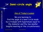 semi circle angle