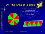 the area of a circle1