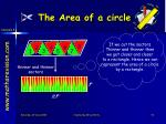 the area of a circle2