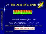 the area of a circle3