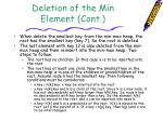 deletion of the min element cont