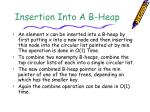 insertion into a b heap