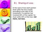 b sharing of loss