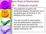 basic rules of musharakah a distribution of profit