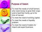 purpose of salam