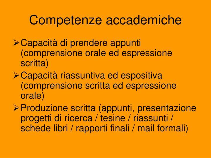 Competenze accademiche