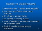 mobility vs stability theme