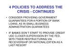 4 policies to address the crisis continued