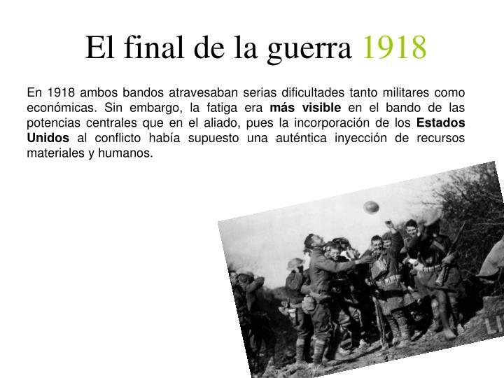El final de la guerra
