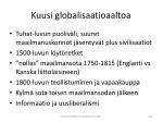 kuusi globalisaatioaaltoa