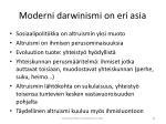 moderni darwinismi on eri asia