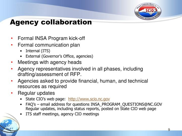 Agency collaboration
