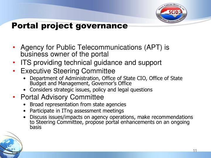 Portal project governance