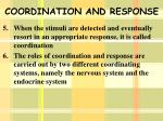 coordination and response1