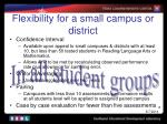 flexibility for a small campus or district