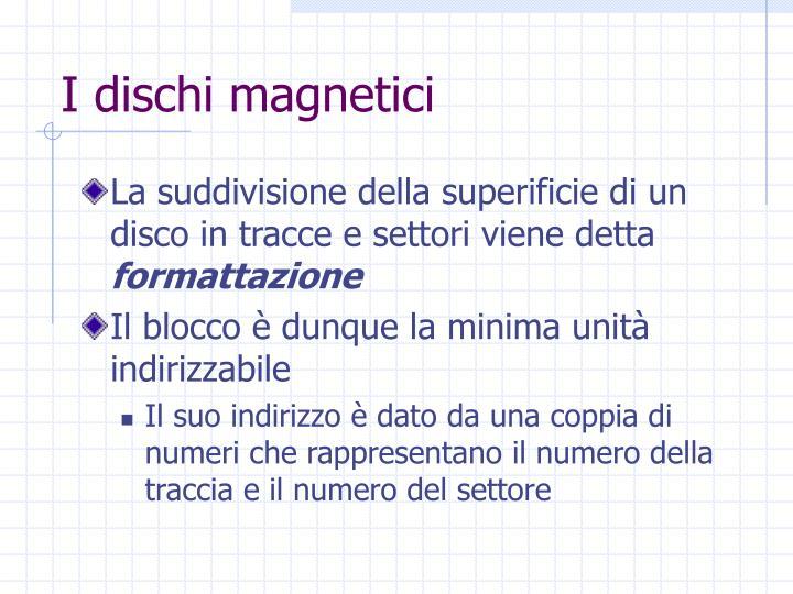 I dischi magnetici