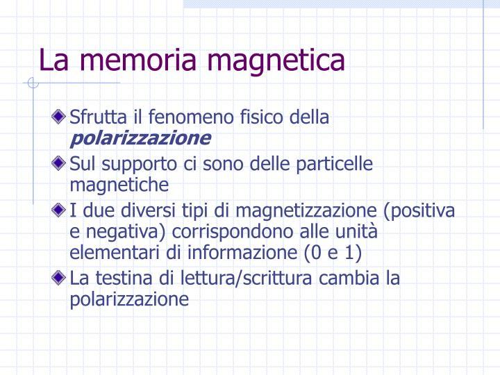 La memoria magnetica