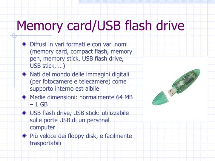 Memory card/USB flash drive