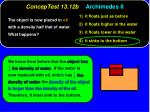conceptest 13 12b archimedes ii1