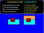 conceptest 13 12d archimedes iv