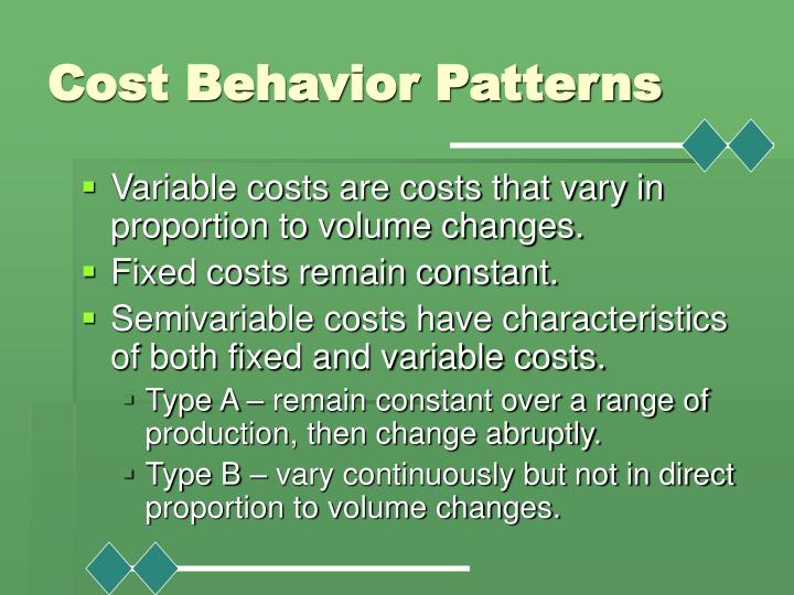 Cost Behavior Patterns