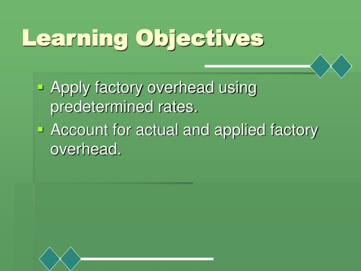 Learning objectives1