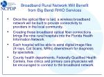 broadband rural network will benefit from big bend rhio services