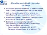major barriers to health information exchange