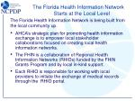 the florida health information network starts at the local level