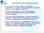 why health information exchange