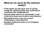 what do we mean by the national family