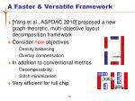 a faster versatile framework