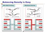 balancing density is easy