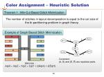 color assignment heuristic solution