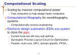 computational scaling