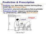 prediction prescription