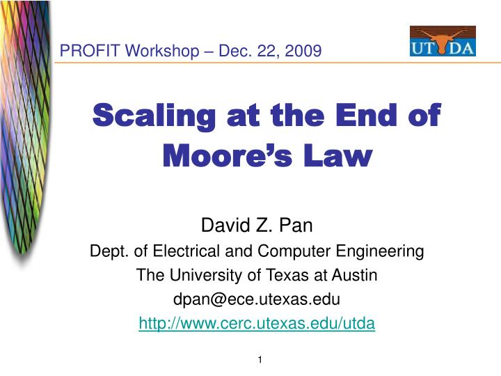 scaling at the end of moore s law n.