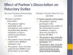effect of partner s dissociation on fiduciary duties