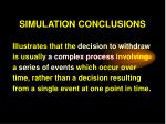 simulation conclusions